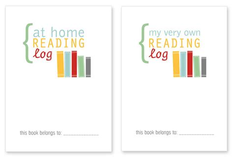 printable reading log cover page free printable back to school reading log