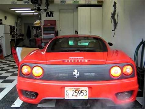 ferrari tail lights ferrari 360 with led tail lights youtube