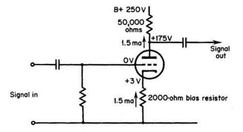 cathode bias resistor value el34 grid biasing methods