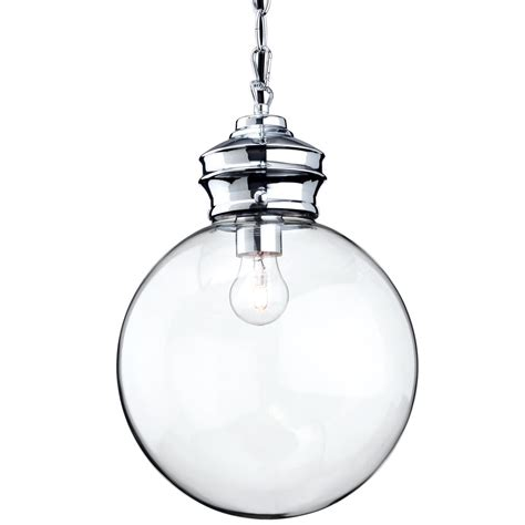 Glass Sphere Pendant Light Firstlight Omar Pendant Light With Clear Glass Sphere And Chrome Detailing Fitting Type From