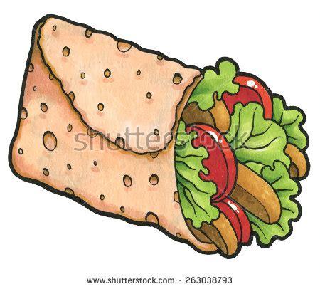 Chicken Wrap Clipart