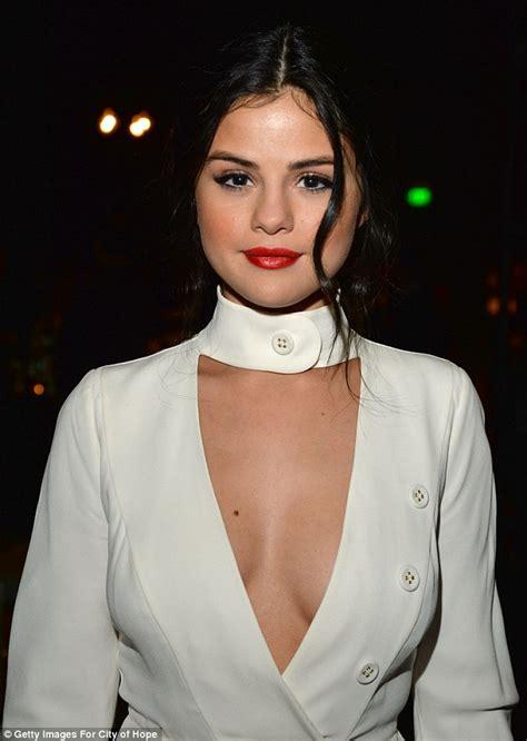 03688 Dress Open Bust Hq selena gomez dons a skimpy white mini dress for spirit of