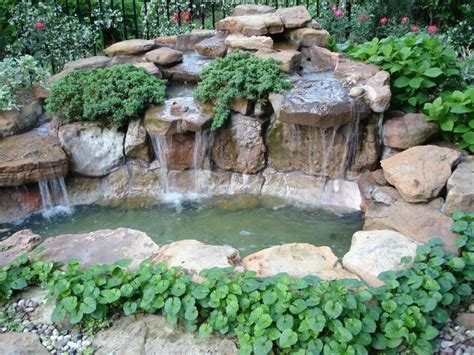 building a pond waterfall decor references