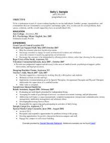 social work resume summary resume objectives for social