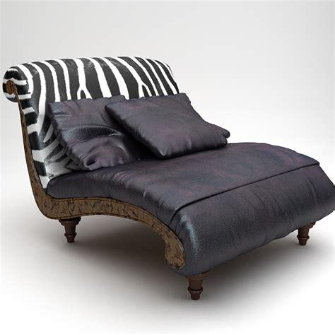 zebra settee 3d model zebra settee lounge chair sofa 26606