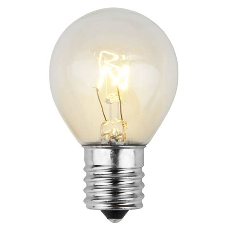 e17 patio and party light bulbs s11 transparent clear