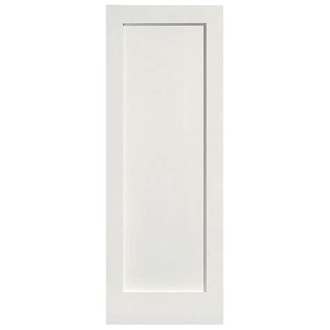 Single Door Closet Masonite 28 In X 80 In Mdf Series 1 Panel Left Handed Solid Smooth Primed Composite