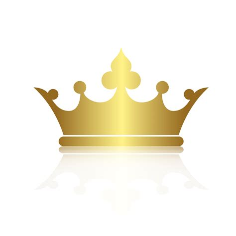 crown symbol  gold color isolate  white background