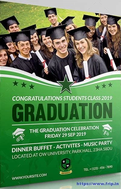 graduation flyer template 20 best graduation flyer print templates 2017 frip in