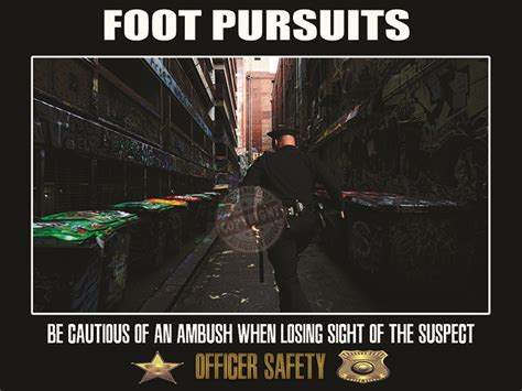 Officer Safety by Foot Pursuit Safety Poster
