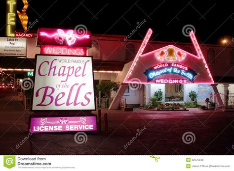 Wedding Bells Vegas by Chapel Of The Bells Las Vegas Editorial Stock Image