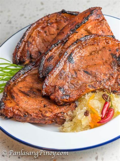 marinated grilled pork chop panlasang pinoy