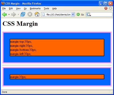 css tutorial margin padding customized instructor led training
