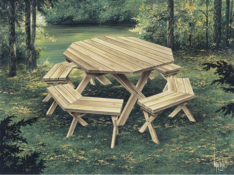 picnic tables woodworking plan   house plans