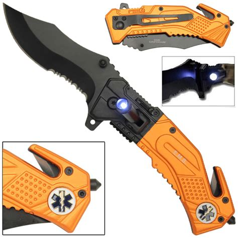 ems rescue knife assist led tactical ems rescue assisted ems knife