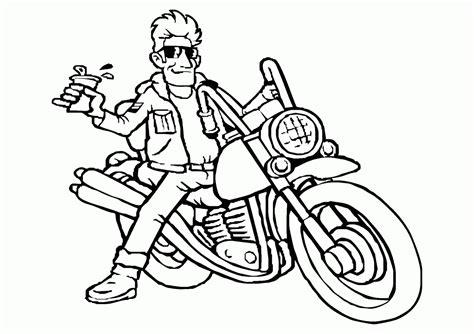mewarnai gambar pengendara sepeda motor contoh anak paud