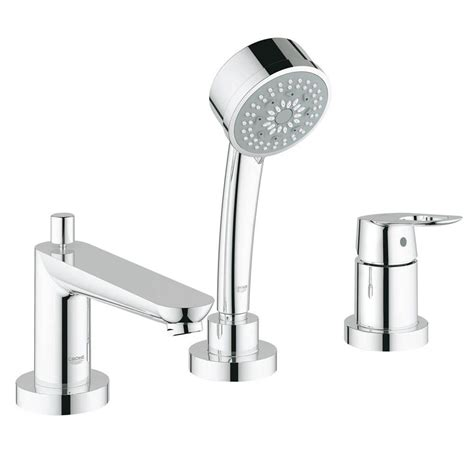 grohe bathtub faucet grohe bauloop single handle deck mount roman tub faucet in