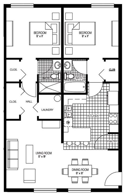 2 Bedroom Apartments Drawing Senior Apartments Melbourne Worthington