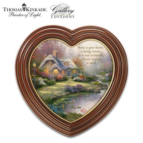 bradford exchange home decor wall pediments thomas kinkade quot home sweet home quot heart