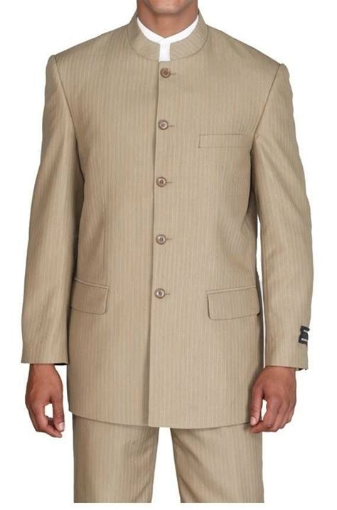 New Year Calls For A Mandarin Collar by Collar Mens Suits