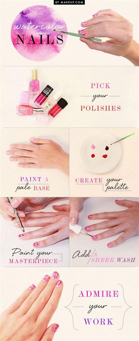 watercolor nails tutorial manicure monday watercolor nails