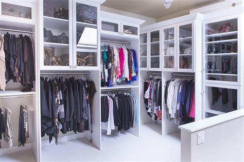 Shoe Closet With Doors Walk In Closet With Paneled Bi Fold Wardrobe Closet Doors Transitional Custom Closet Designer Az Closet Systems Cave Creek Az Fast Cabinet Installer