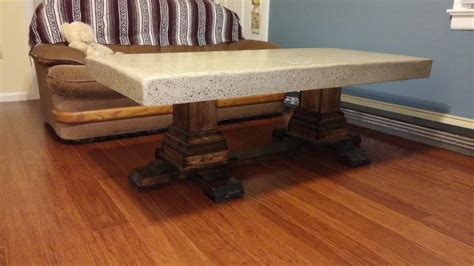 concrete pedestal coffee table shanty 2 chic