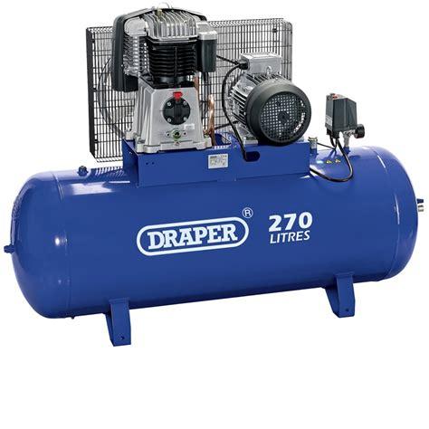 76120 270 litre 415v 3 phase belt driven stationary air compressor innovate electrical
