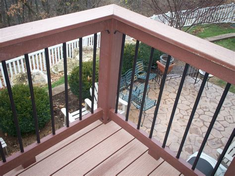 Design For Metal Deck Railings Ideas Decor Tips Totally Fresh Trex Decking Colors For Patio Ideas Modern Solid Composite Deck With