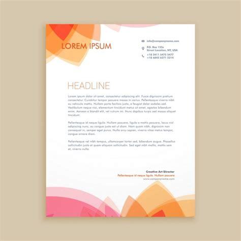 letter template design vector beautiful letterhead design vector free