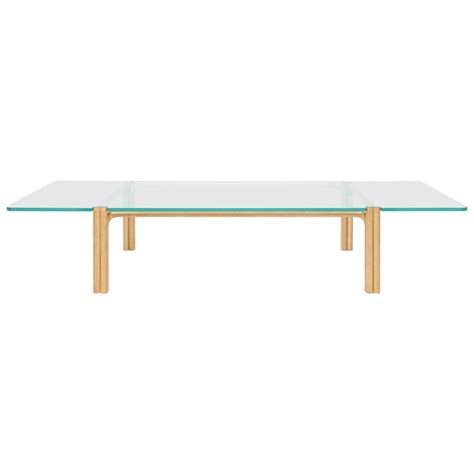 Beech Coffee Table Ca21g Contemporary Handcrafted Minimalist Modern Beech And Glass Coffee Table For Sale At 1stdibs
