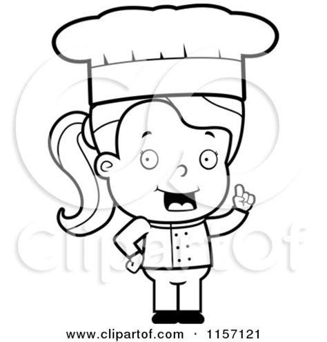 girl chef coloring page royalty free rf girl chef clipart illustrations vector