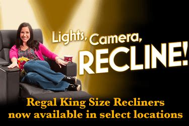 regal king size recliners movie promotions discounts specials regal cinemas