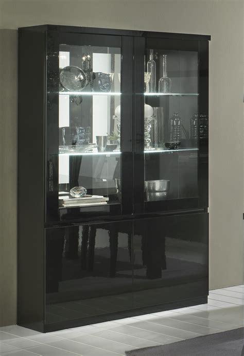 vitrine cuisine vitrine design 2 portes laqu 233 e solene vitrine autres meubles salle a manger