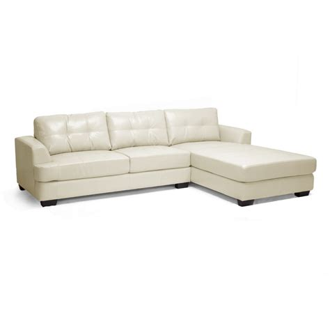 dobson leather modern sectional sofa dobson cream leather modern sectional sofa see white