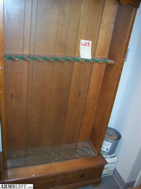 used gun cabinets for sale armslist for sale 0 space wood gun cabinet