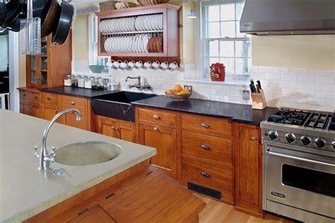 Soapstone Subway Tile - black soapstone kitchen with white subway tile backsplash