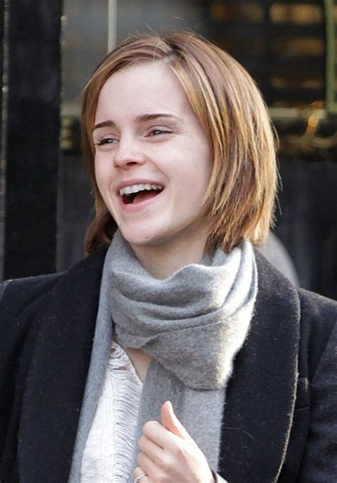 sweet layered short haircut for girls emma watson short