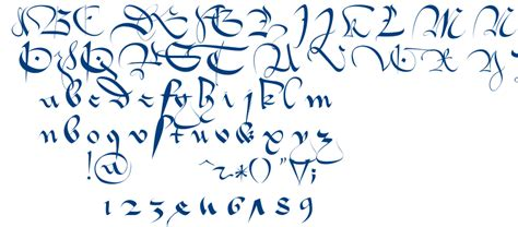 1413 gothique cursive fontm