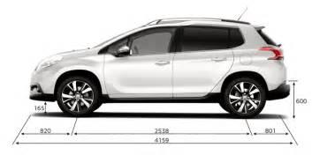 Dimensions Of Peugeot 2008 Nouveau Suv Peugeot 2008 2016 Mandataire Peugeot 2008