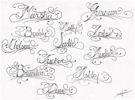 design tattoo online free names sle swirly name designs tattoomagz