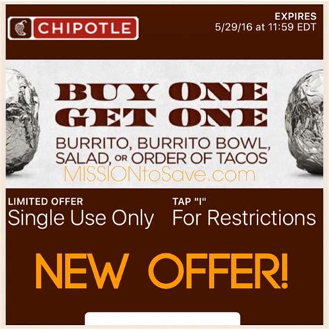 Buy 1 Get 1 Promo 6 In 1 Tempat Bumbu Dapur Berkualitas chipotle coupon for buy one get one free text offer mission to save