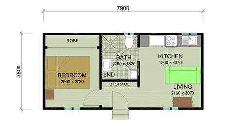 House Plans With Granny Flat by Floorplan Bottle Brush 1 Bedroom Granny Flat Granny