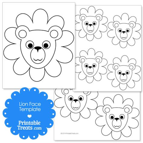 lion face template preschool pictures to pin on pinterest