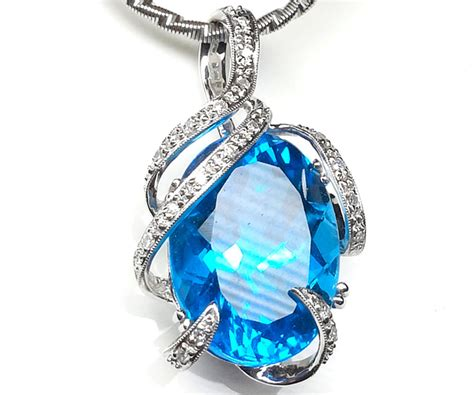 Sherry Topaz 10 02 Ct blue topaz gold necklace jewelry ideas