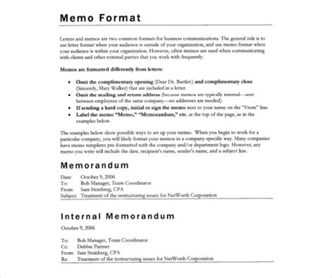 internal memo templates 15 free word pdf documents