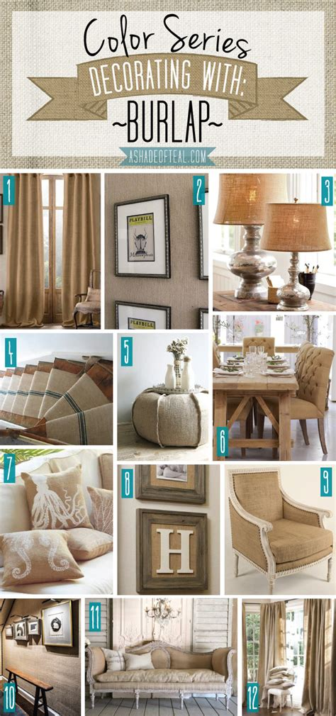 home decor with burlap color series decorating with mustard a shade of teal