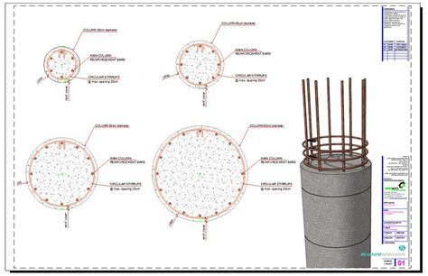 circular section circular section reinforced concrete column details