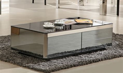 zircon modern coffee table with drawers