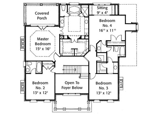 Classic Georgian House Plans by Classic Georgian 5625ad 2nd Floor Master Suite Corner
